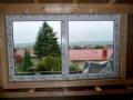 Kunststofffenster eingebaut im Holzrahmen